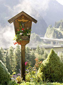 Wayside Cross, Cross, Wooden Cross, Wood, Tyrol