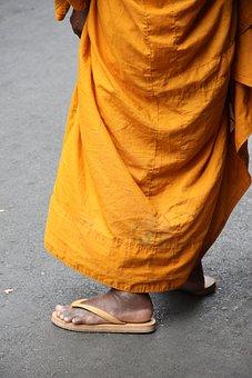 Bangkok, Thailand, Chinatown, Monk, Buddhism, Feet