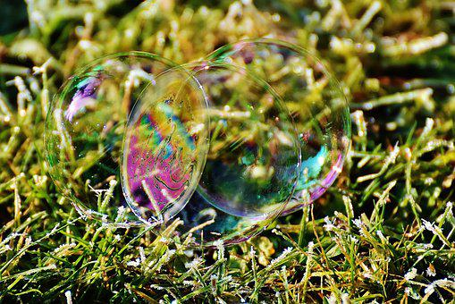 Soap Bubble, Colorful, Meadow, Balls, Soapy Water