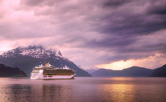 Norway, Fjord, Lake, Water, Reflections, Cruise, Liner