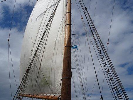 Sail, Sailing Vessel, Mast, Ship, Rigging, Sailing Boat