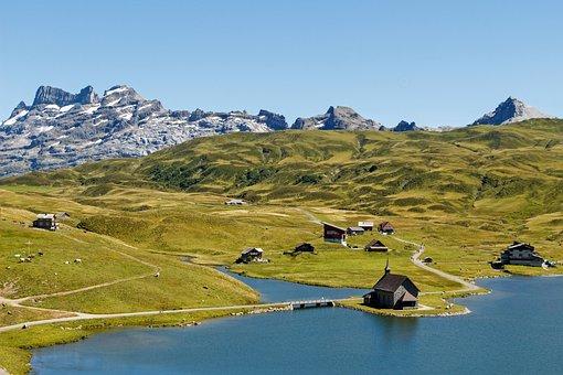 Switzerland, Mountains, Bergsee, Melchsee