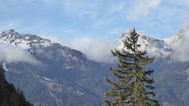Mountains, Winter, Landscape, Austria, Reutte