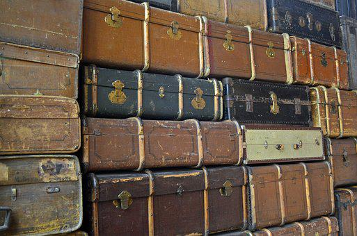 Luggage, Travel, Go Away, Old Suitcase, Leather
