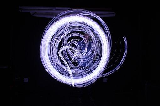 Light, Long Exposure, Painting, Circle, Motion