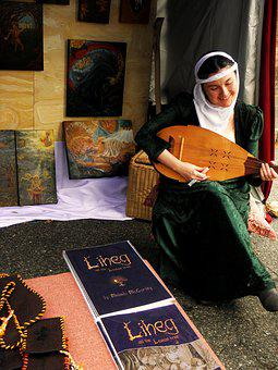 Lute Player, Ren-fair, Young Medieval Girl