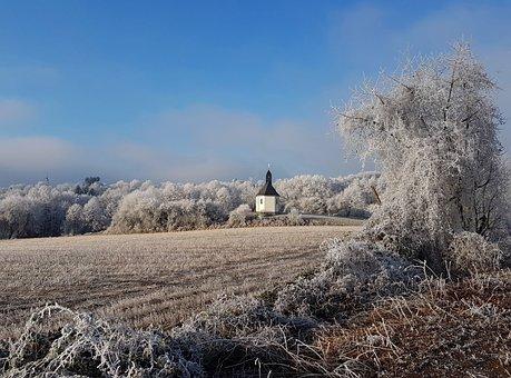 Winter, Chapel, Snow, Wintry, Landscape, Church, Snowy