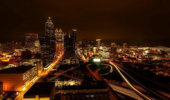 Atlanta, Georgia, Usa, City, Urban, Downtown, Cityscape