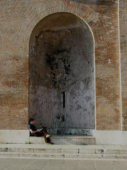 Brick Wall, Wall Niche, Reading, Wall Texture