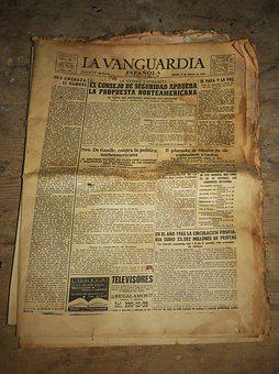 Newspaper, Old Newspaper, Old, Yellowish, The Vanguard
