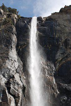 Yosemite, Waterfall, National, Park, California, Nature