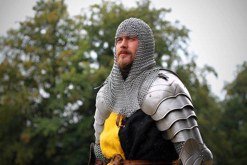 Knight, Fencing, Armor, Sheet, Middle Ages, Man, Beard