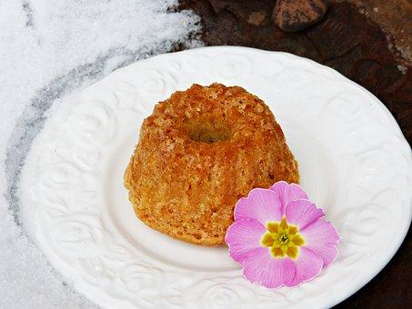 Cake, Guglhupf, Bowl Cake, Blossom, Bloom, Primrose