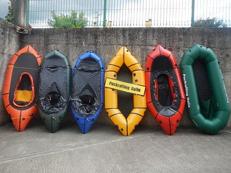 Rafting, Italy, Packrafting, Canoeing, Boats