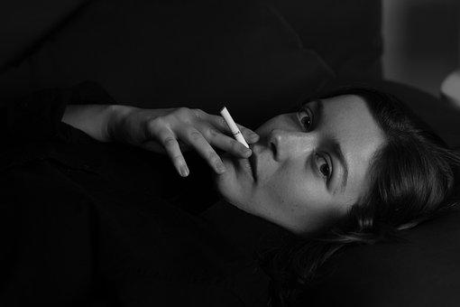Woman, Cigarette, Smoking, Smoke, Nicotine, Young