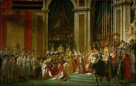 Napoleon, Oil Painting, The Coronation, David, 1804