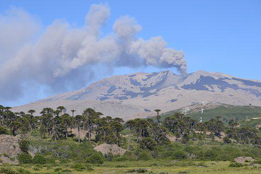 Volcano, Eruption, Ash, Mountain, Landscape