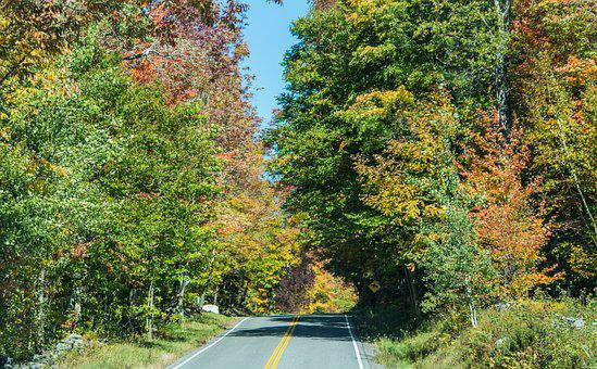 Country Road, New England, Vermont, Foliage, Fall