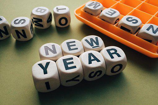 New Year, Words, Celebrate, Boggle, Game