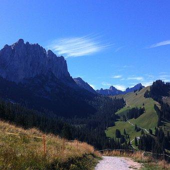 Mountains, Gastlosen, Switzerland