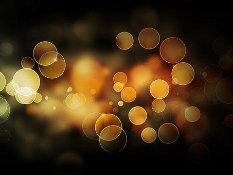 Balls, Light, Floating, Glass, Background Image