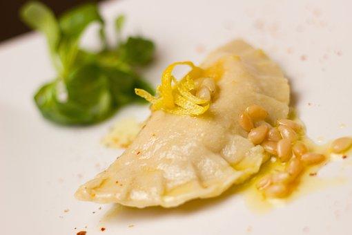 Ravioli, Lemon, Butter, Pasta, Noodles, Homemade, Salad