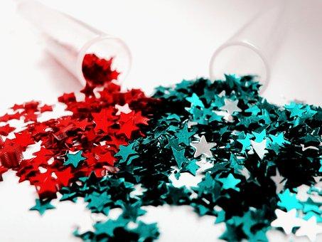 Handmade, Stars, New, Year, Holiday, Test-tube