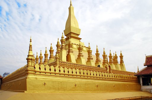 Laos, Vientiane, Pha That Luang, Stupa, Temple, Sacred