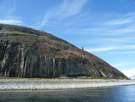 Scotland, Ailsa Craig Island, Curling Stones Granite