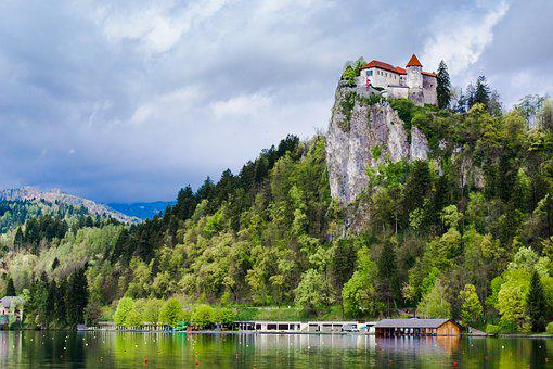 Bled, Lake, Castle, Slovenia, Medieval Castle