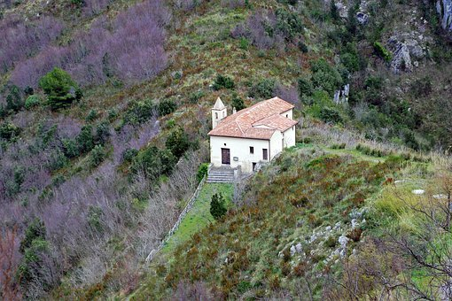 Maratea, Basilicata, Italy, Hermitage, Church, Mountain