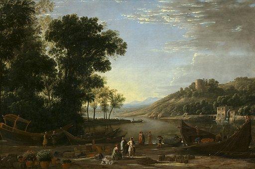 Claude Lorrain, Landscape, Oil Painting