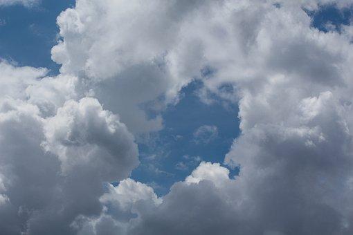 Sky, Air, Puff, Nature, Blue, Summer, Day, White, Cloud