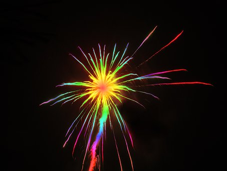 Sylvester, Rocket, Colorful, Fireworks, New Year's Eve