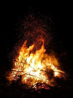 Fire, Easter Fire, Flame, Easter, Campfire, Blaze