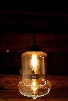 Lantern, Light, Light Bulb, In The Dark, Lights