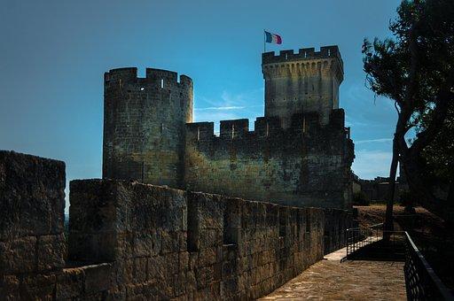 Castle, Beaucaire, Tower, Monument, Architecture