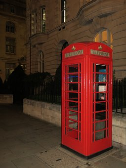 London, Phone Booth, Red, Red Telephone Box