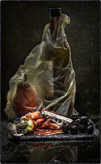 Still Life, Plastic Bag, Food, Bottle