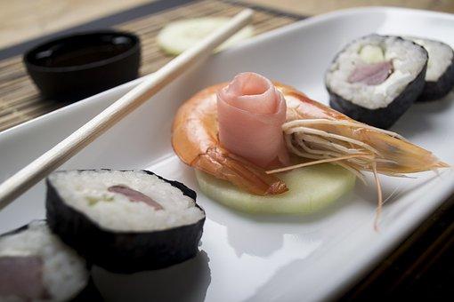 Sushi, Shrimp, Japan, Japanese