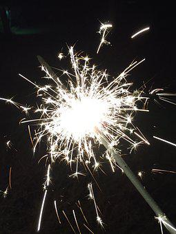 Sparkler, New Year's Eve, New Year's Day, Light