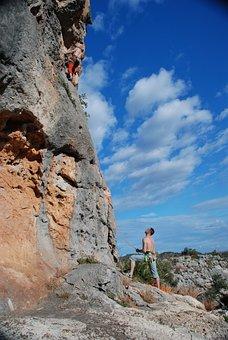 Climbing, Rope, Skalka, Sport, Mountaineering, But