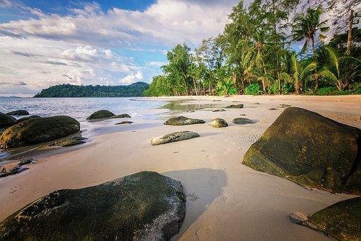 Thailand, Koh Kood, Summer, Swing, Beach, Holiday