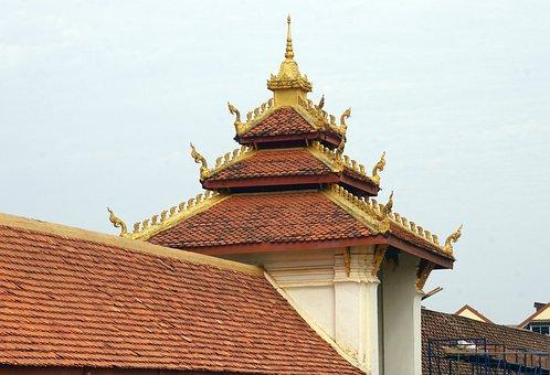Laos, Vientiane, Pha That Luang, Temple, Buddhism