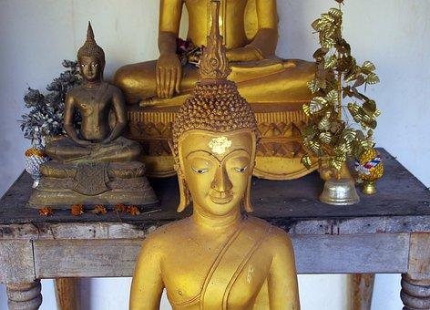 Laos, Vientiane, Pha That Luang, Buddha, Doré, Religion