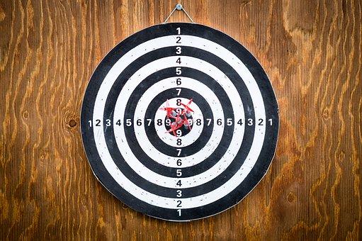 Success, Goal, Target, Dart Board, Darts, Achievement