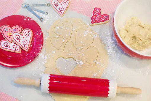 Valentine's Day, Baking, Baking Cookies