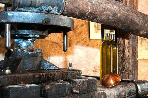 Press, Olive Oil, Bottles, Wood, Bottle
