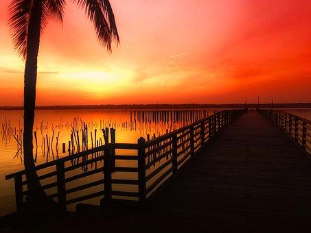 Benin, Sky, Clouds, Sunset, Dusk, Beautiful, Colors