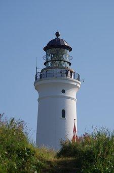 Hirtshals Lighthouse, Denmark, North Sea, Holiday